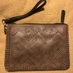 Shiraleah Studded Vegan Leather Tan Brown Clutch